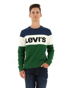 Levi's T-shirt color block grün/marine